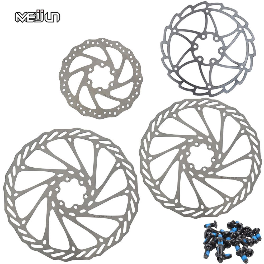 MEIJUN 1 pièces acier inoxydable G3 vtt disque frein Rotor 140mm 160mm 180mm 203mm VTT cyclisme 6 trous Rotor avec vis