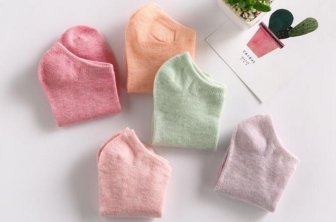 2018 Hot mdl-BAEs Sweat Uptake Material Women Girl Socks Spring Summer 4 Season Socks Cotton Breathable Female Home Socks