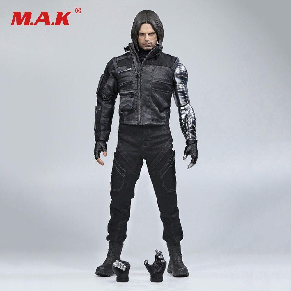 Pre order 1/6 Winter Soldier Bucky Barnes With Mechanical Arm Captain American Civil War Action Figure Combat Suit Version Box