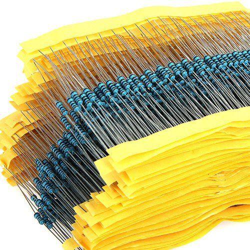 600 teile/satz 1/4 watt Widerstand 1% 30 Arten Jeder Wert Metall Film Widerstand Sortiment Kit widerstände Kostenloser Versand dropShipping