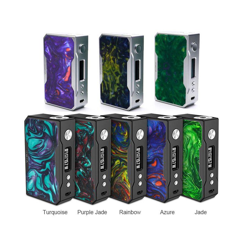 100% original VOOPOO DRAG 157W mod carbon fiber version TC Box Mod e cigarette vape with US gene fun chip W/O 18650 battery