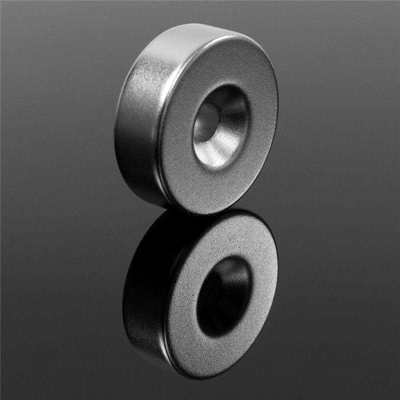 2 Stücke 30mm x 10mm Loch 6mm N35 Ring Schleife Versenkten Magneten Disc Rare Earth Neodym Magneten 30x10mm Rund Permenent Magnet