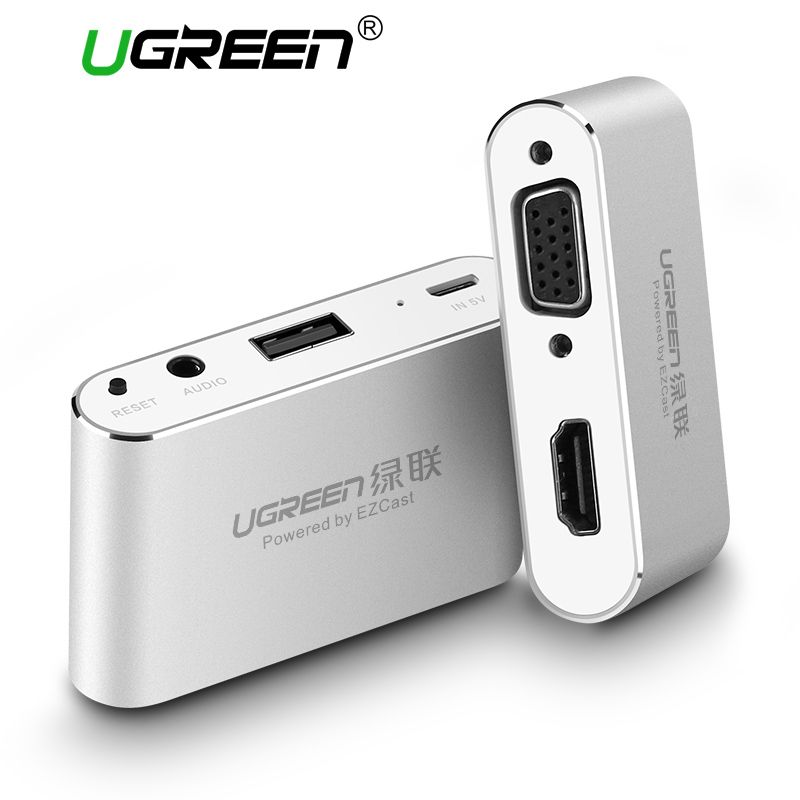 Ugreen 3 in 1 USB Audio Adapter USB to HDMI VGA + Video Converter Digital AV Adapter For iPhone X 8 7 plus 6S iPad For Samsung