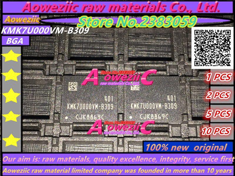 Aoweziic (1 шт.) (2 шт.) (5 шт.) (10 шт.) 100% Новый оригинальный KMK7U000VM-B309 BGA микросхемы памяти KMK7U000VM B309