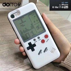 DOITOP Classic Tetris Console Handheld Game Players Play Tetris Game Phone Case Gift For Child Kid For Iphone 7 8 6 6S Plus B3