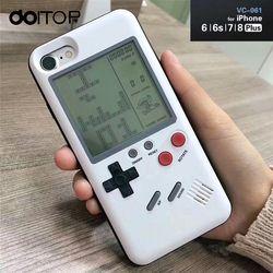 DOITOP clásico Tetris consola portátil Game jugadores jugar Tetris juego teléfono caso regalo para niño Niño para Iphone 7 8 6 6 s más B3