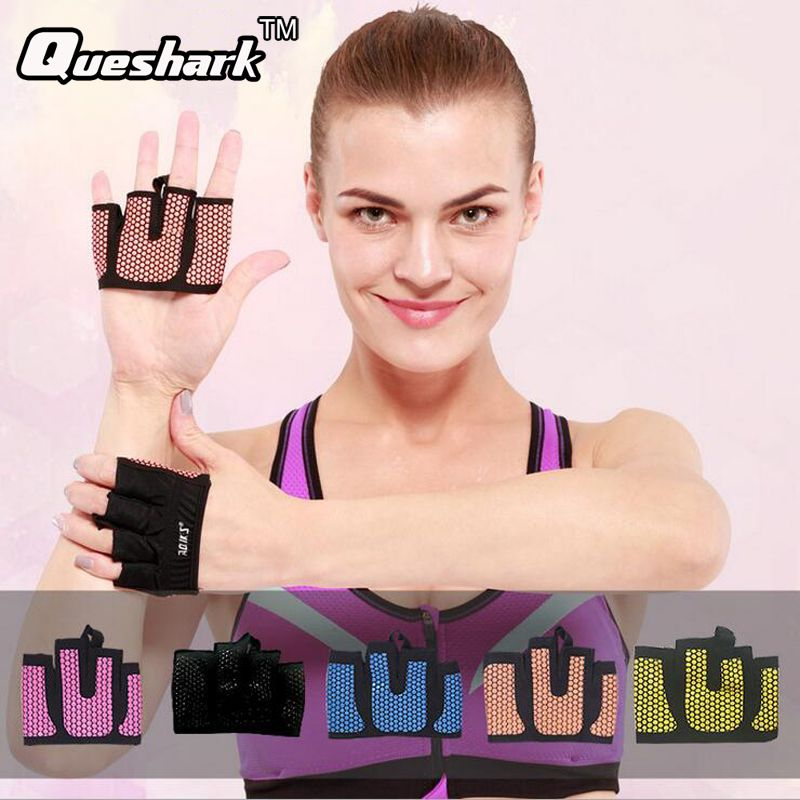 Crossfit Anti-skid Weight lifting Dummbell Gloves Breathable Hand Grippers Gym Yoga Powerlifting Fitness Barbell Palm Protector