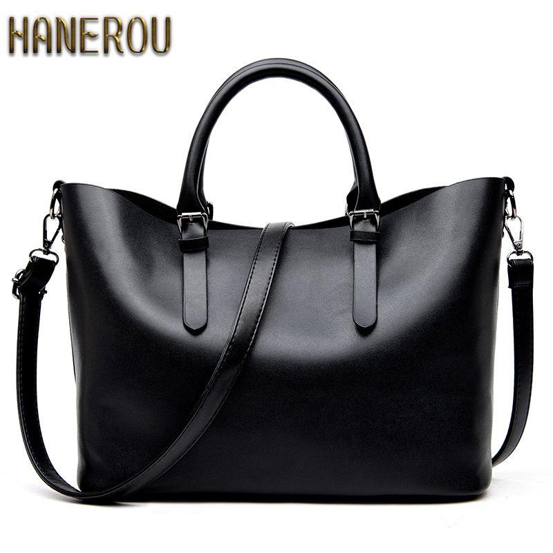 Bolso Mujer Negro 2018 Fashion Hobos Women Bag Ladies Brand Leather Handbags Spring Casual Tote Bag Big Shoulder Bags For Woman