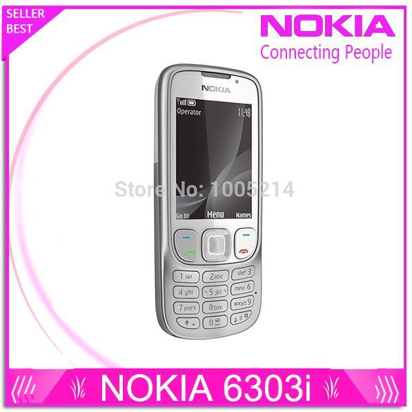 Refurbished Original 6303i Unlocked Nokia 6303 mobile phone black and silver color for you choose Refurbished