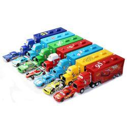 Disney Pixar Cars 21 Styles Mack Camion + Petite Voiture McQueen 1:55 moulé sous pression En Métal Alliage Et En Plastique Modèle De Voiture Jouets Cadeaux Pour Les Enfants