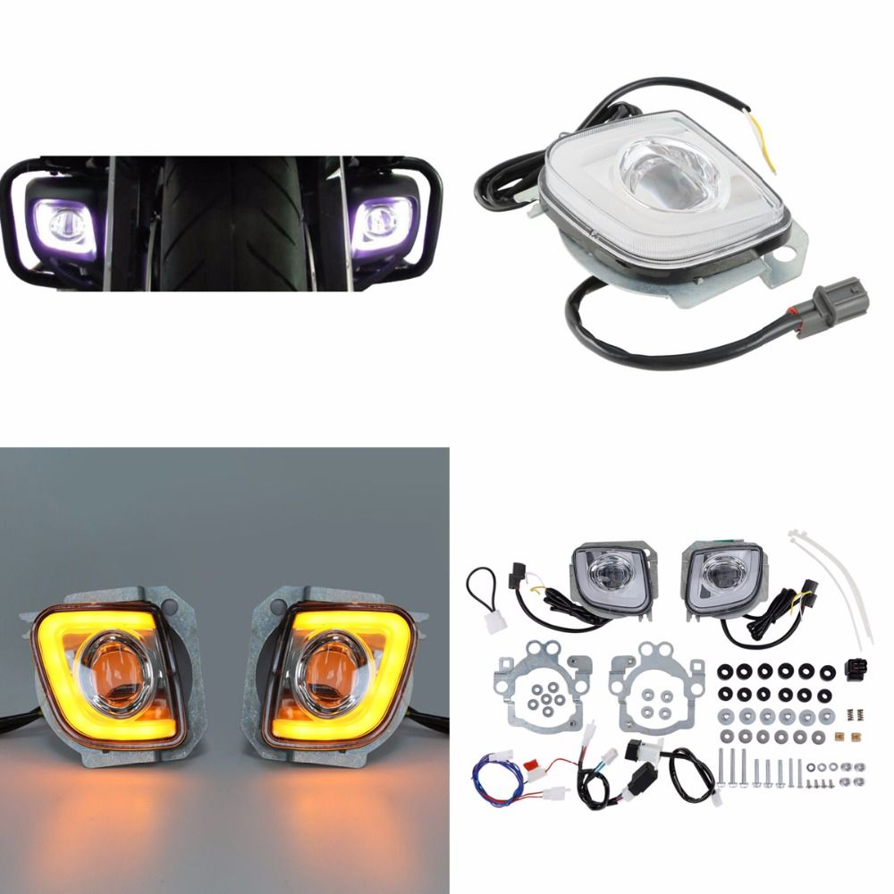 Motorcycle Motorbike LED Turn Signal Driving Fog Light For Honda Goldwing GL1800 12-17 F6B Valkyrie GL18RFL 2012-2016 13 14 15