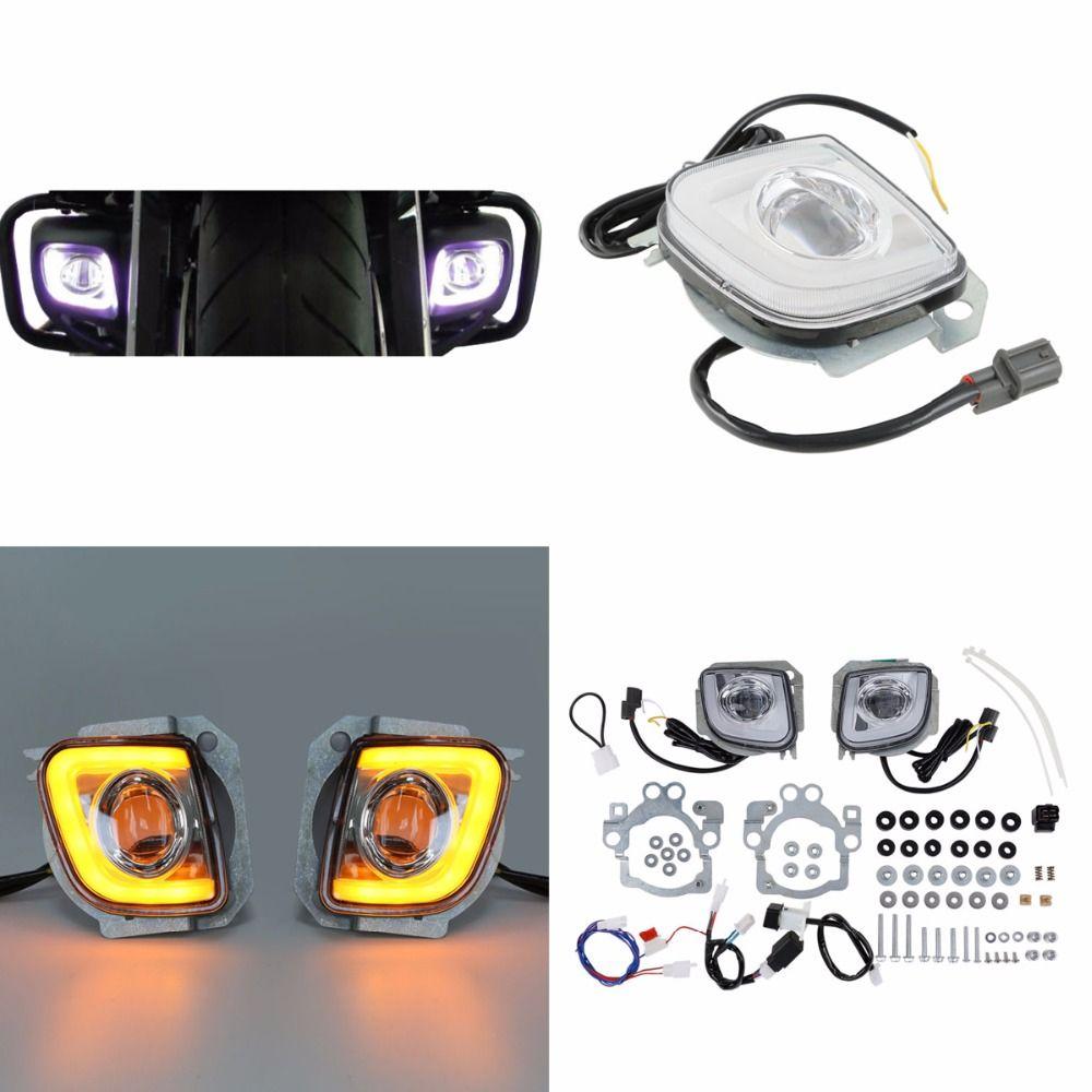 Motorrad Motorrad LED Blinker Fahr Nebel Licht Für Honda Goldwing GL1800 12-17 F6B Walküre GL18RFL 2012- 2016 13 14 15