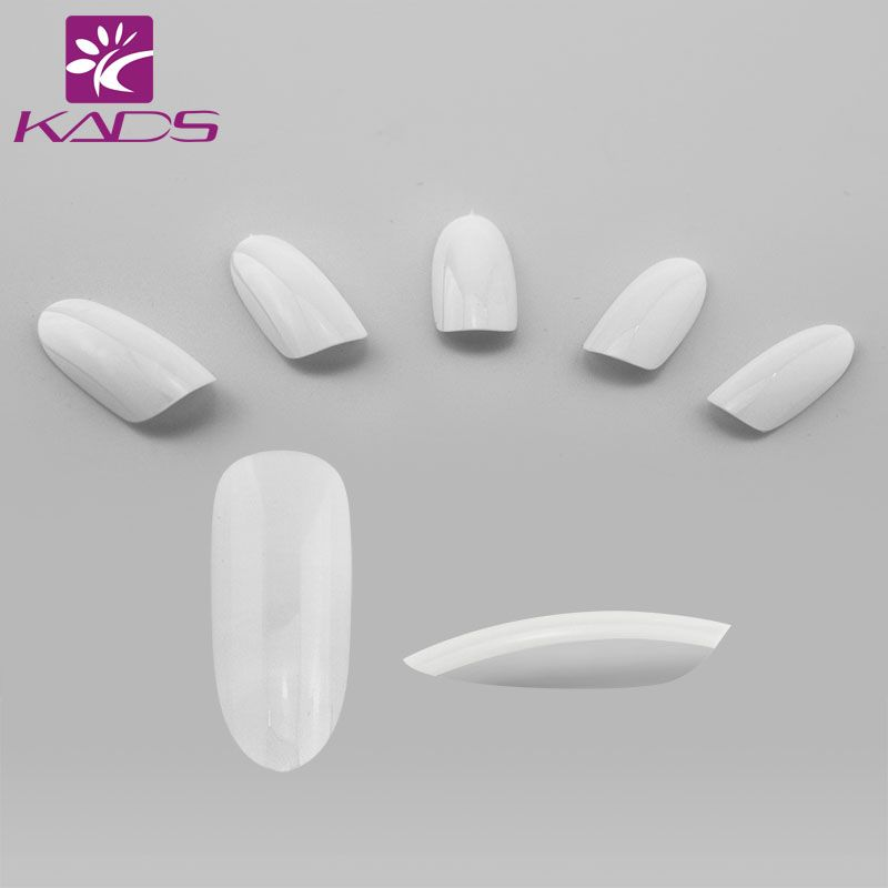 KADS 500pcs/bag Clear/ Natural / White Nail Art Round End Oval False Nails Fake Nails Tips French Manicure Artificial Nails