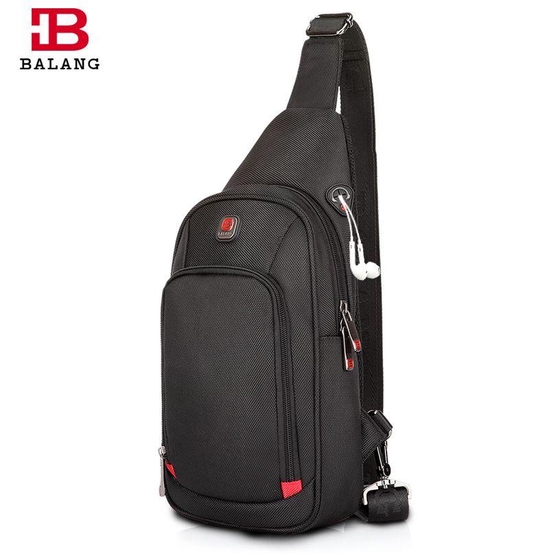 BALANG <font><b>Crossbody</b></font> Bags for Men Messenger Chest Bag Pack Casual Bag Waterproof Nylon Single Shoulder Strap Pack 2017 New Fashion