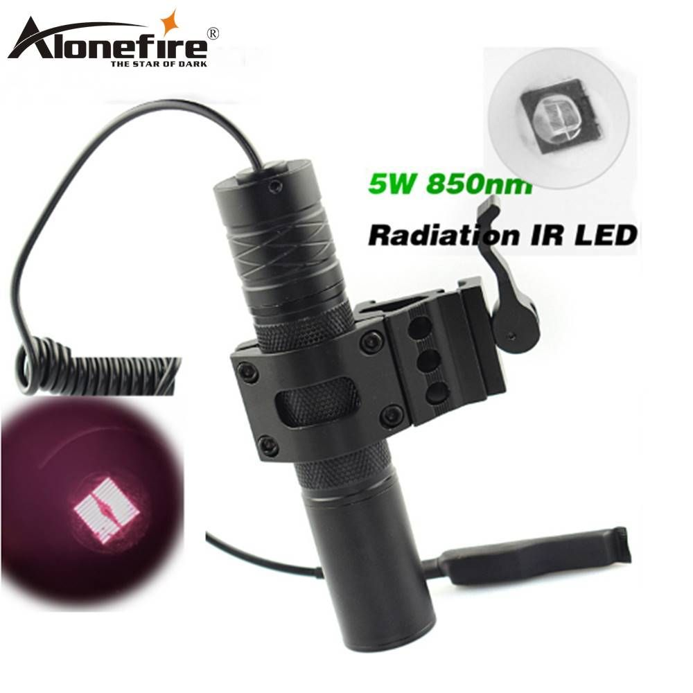 AloneFire 5W Torch 850nm Zoom Infrared Radiation IR LED Night Vision Flashlight Camping Light Hunting Lamp IR Lamp LED IR01
