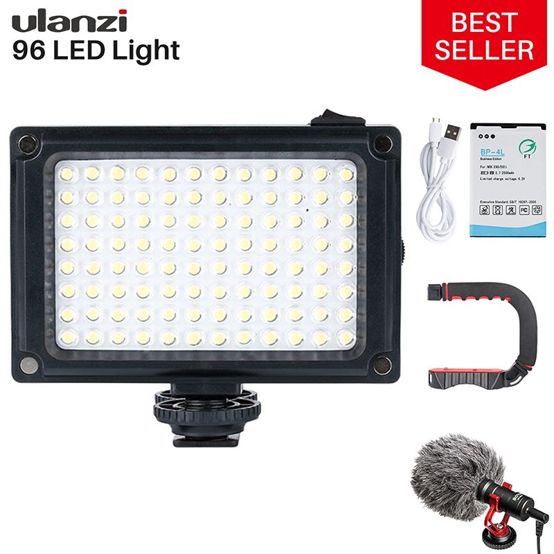Ulanzi 96 DSLR LED Video Light On Camera Photo Studio Lighting Hot Shoe LED Vlog Fill Light Lamp for Smartphone DSLR SLR Camera