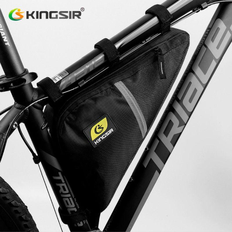 Kingsir Marque Étanche Vélo Avant Triangle Sac de Montagne Vélo De Route Vélo Avant Tube Cadre Sac Téléphone Housse Sac À Outils