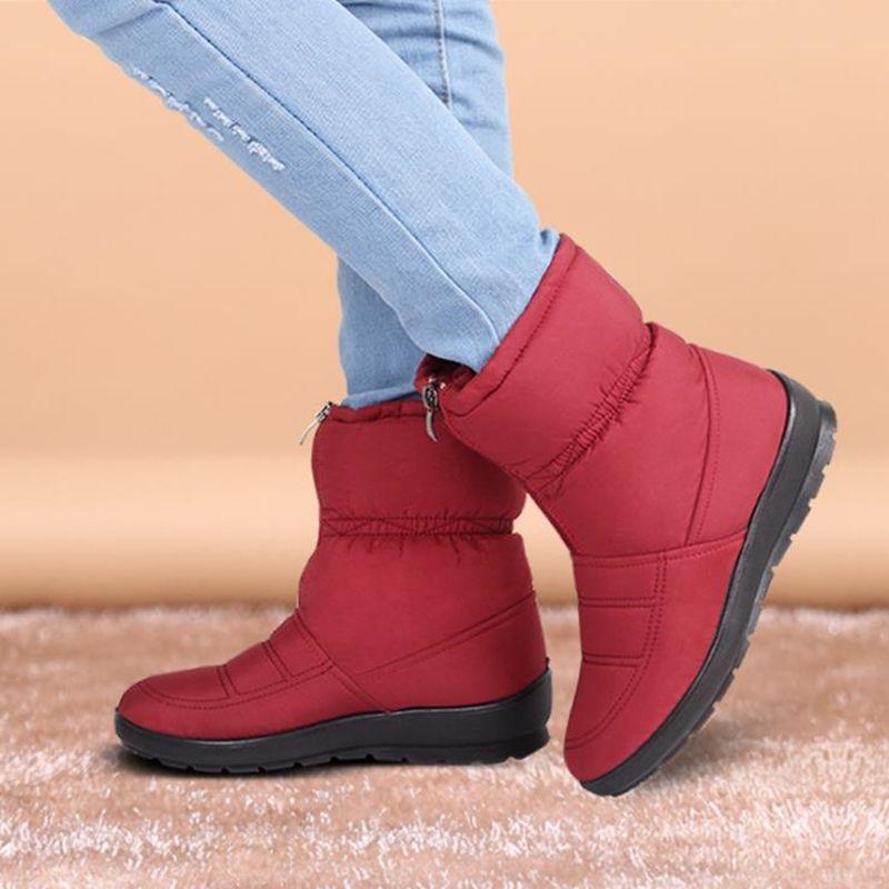Bottes de neige 2017 hiver zimnafr marque chaude antidérapante imperméable femmes bottes mère bottes décontracté coton automne bottes femmes chaussures