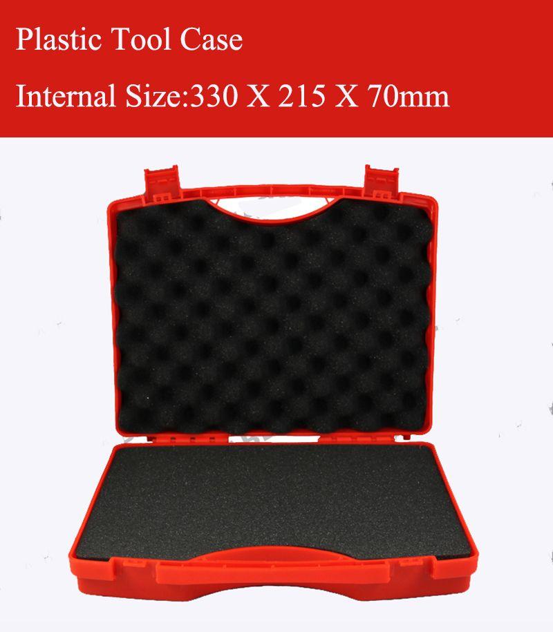 330x215X70 мм Пластик инструмент случае чемодан Toolbox ударопрочный чехол безопасности оборудования приборные оборудова с нарезанные пены