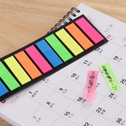 Colorido translúcido fluorescente etiqueta engomada Marcadores clasificación índice Adhesivos Oficina suministros de escuela papelería