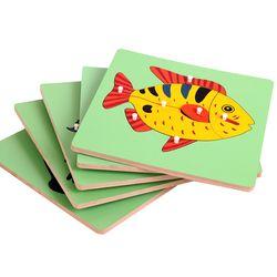 Bahan Montessori Biologi Puzzle Hewan Katak Montessori Mainan untuk Bayi Awal Belajar Pendidikan Mainan untuk Anak UD0964H