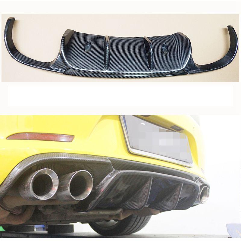 VRS Stil Real Carbon Fiber Hinten Stoßstange Diffusor Für Porsche 911 991 Carrera & Carrera S Modelle 2012 2013 2014 2015