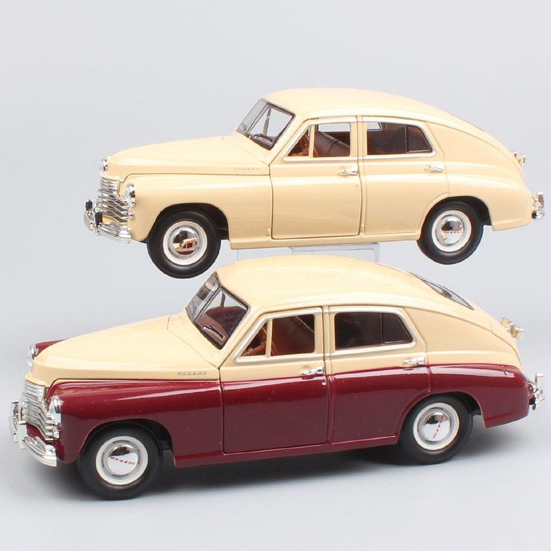1/24 Scale Road Signature Russia Soviet vintage Gorky Gaz-M20 Pobeda Sedan Volga diecast model car miniature toy for collector