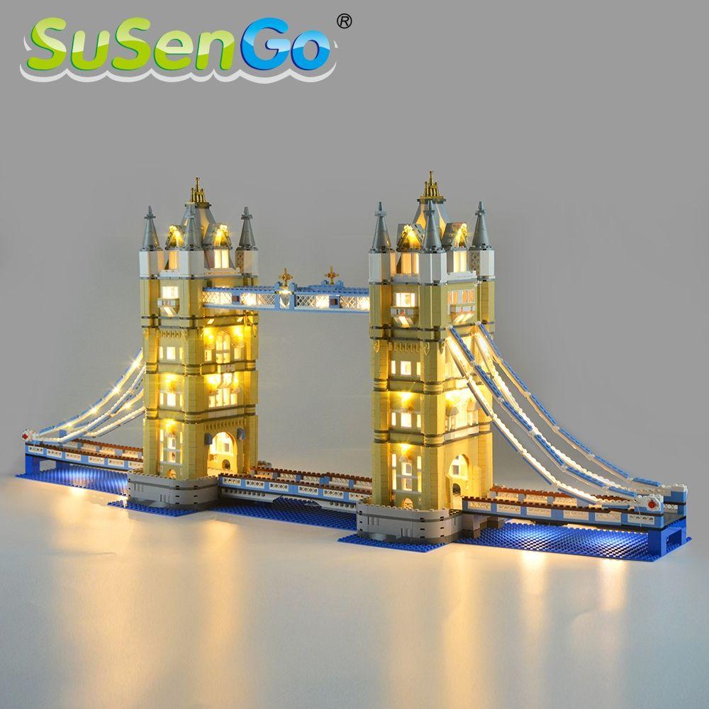 SuSenGo LED Licht Kit (Nur Licht) Für Architektur London Tower Bridge Licht Set Kompatibel Mit 10214 Und 17004