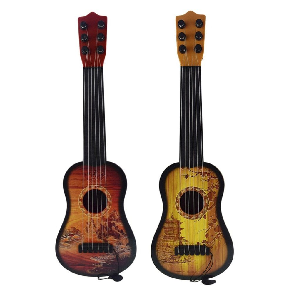 43cm Children Guitar 6-String Ukulele With Adjustable Tuners And Chinese Style Pattern Educational Musical Instrument