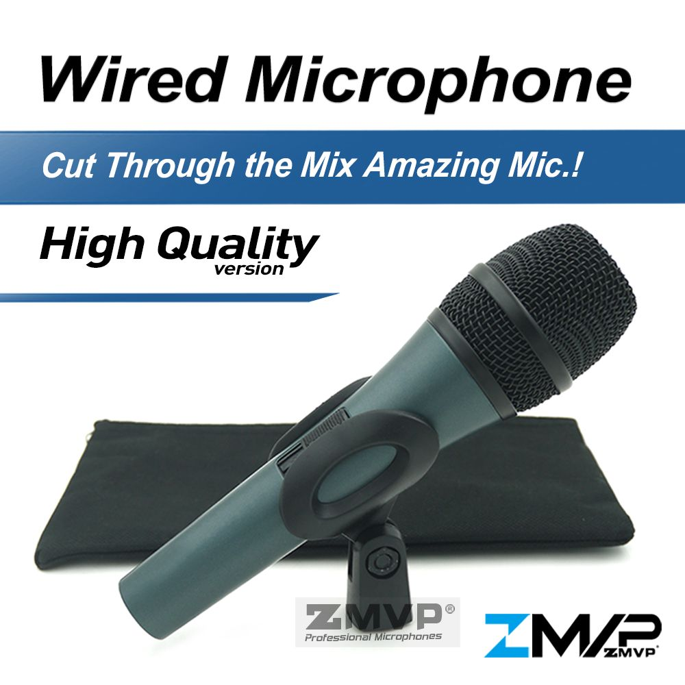 Free Shipping! High Quality 845 Professional Dynamic Super-cardioid karaoke Vocal Wired Microphone Microfone Microfono Mike Mic