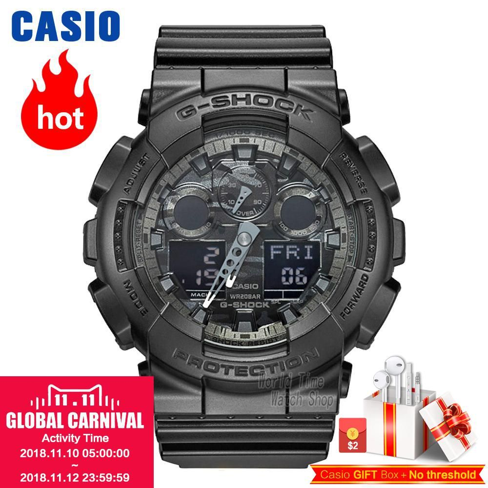 Casio uhr G-SHOCK männer Quarz Sport Uhr Trend Camouflage Harz Strap Wasserdicht g shock Uhr GA-100