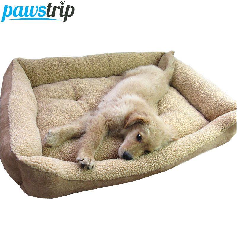 Extra Große Hund Bett Weichen Berbervlies Welpen Kissen Winter Warme Haustier Hund Haus Waschbar M-XL