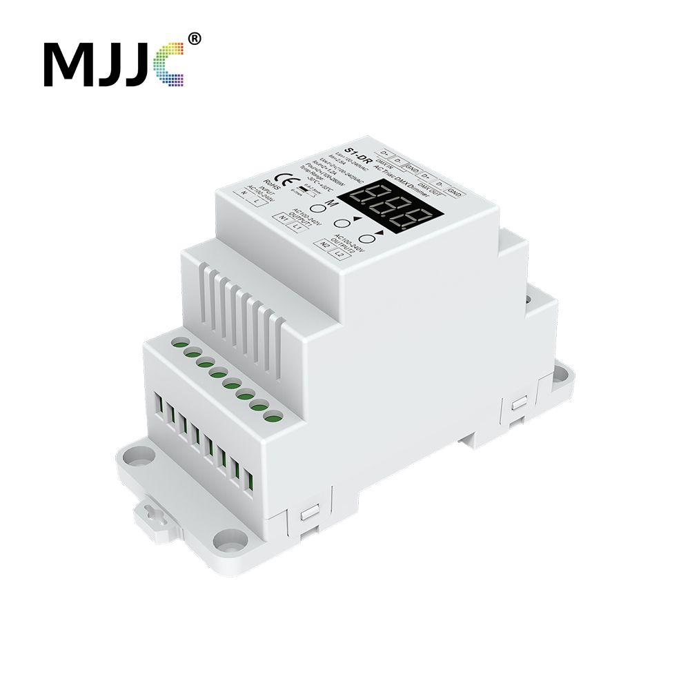 Dimmer 220V DIN Rail AC 230V 110V 120V 288W 2 Channel Triac DMX Dimmer Dual Channel Output Silicon DMX 512 Controller S1-DR