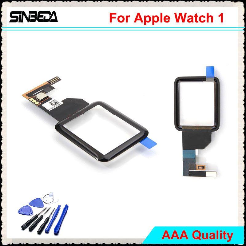 Sinbeda 100% Garantie Für Apfel Uhr Serie 1. 38mm 42mm Touchscreen Digitizer Glass Sport/Saphir version Schwarz