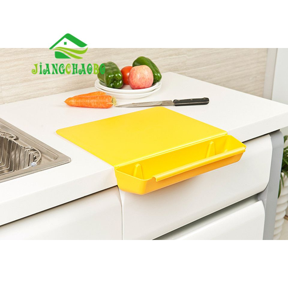 2 in 1 Kitchen <font><b>Foldable</b></font> Chopping Board Creative Non-slip Folding Cutting Board Camping Antibacteria Chopping Board Cooking Mat