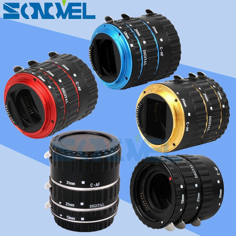 In Stock Metal TTL Auto Focus AF Macro Extension Tube Ring Lens Adapter Ring for Canon EOS EF EF-S All Lenses
