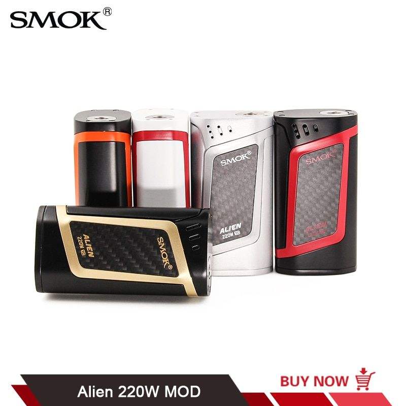 Original SMOK Alien 220W TC Box Mod OLED Display Fit for TFV8 Baby Tank Electronic Cigarette Mod VS SMOK Alien Procolor T-Priv