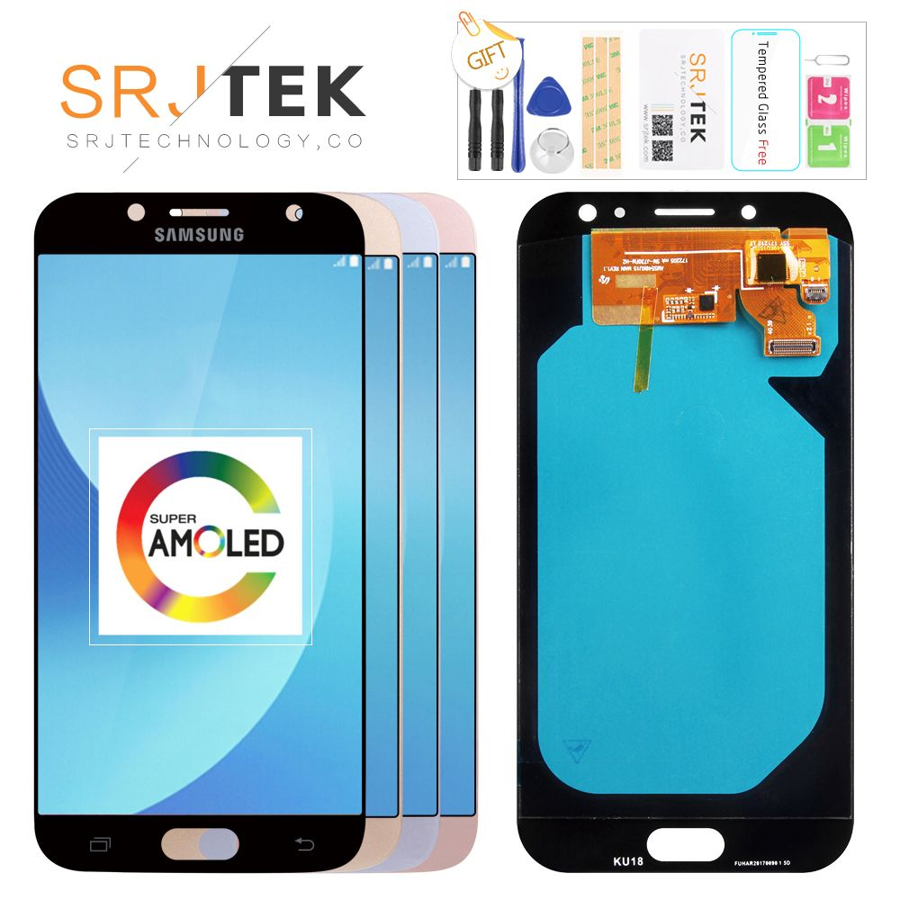Original 5.5'' AMOLED Display for SAMSUNG Galaxy J7 Pro J730 LCD For SAMSUNG J7 2017 Display Touch Screen Digitizer J730F