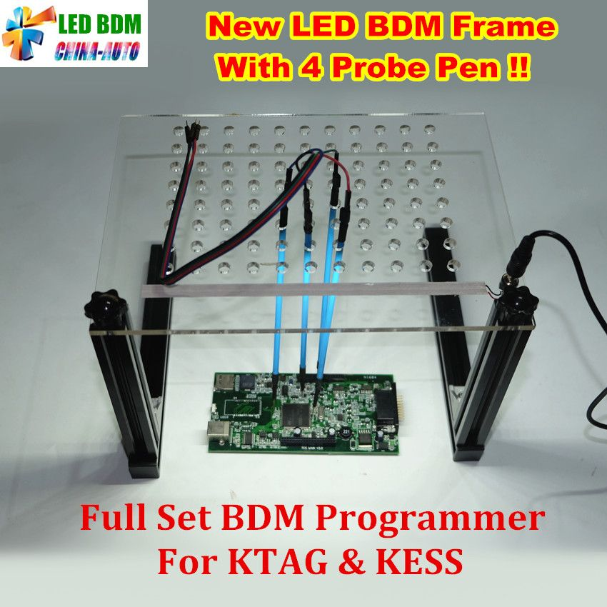 2019 New LED BDM Frame With 4 Probe Pens Full Set BDM Programmer For KTAG K-TAG KESS V2 Fgtech BDM100 Auto ECU Chip Tuning Tool