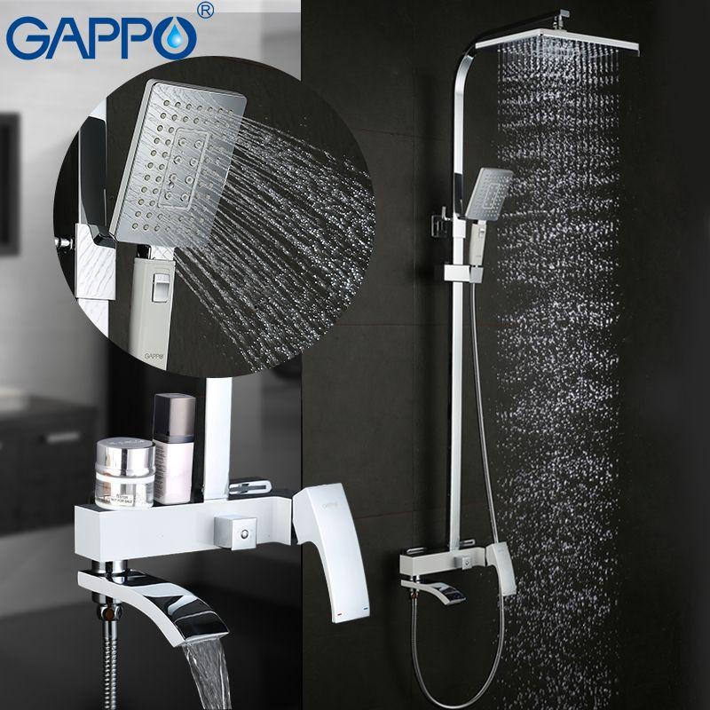 GAPPO dusche Wasserhahn messing dusche armaturen bad regen dusche sets verdeckte Dusche Mischer wasserfall wasserhahn griferia