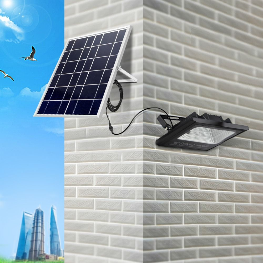 Full Watt 10W Solar Charge LED Lawn Garden Flood light Waterproof Outdoor Floodlight Aisle Road Wall lamp With Remote Control