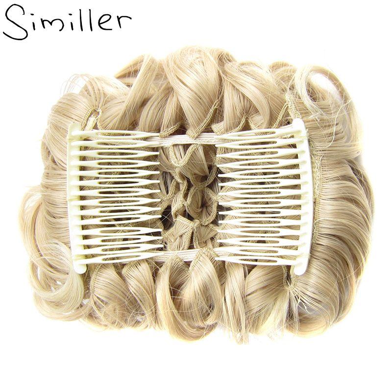 Similler химическое короткие грязные вьющиеся Блюдо волос Bun Расширение легкий стрейч Расчёски и гребни для волос клип в лоток хвост
