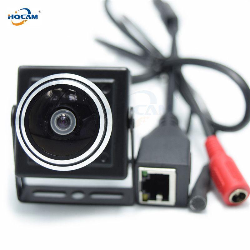 HQCAM 5/4/3/2/1.3/1MP caméra Audio vidéo MINI caméra IP H.264 micro caméra réseau P2P 1.78mm Fisheye grand Angle objectif Fisheye