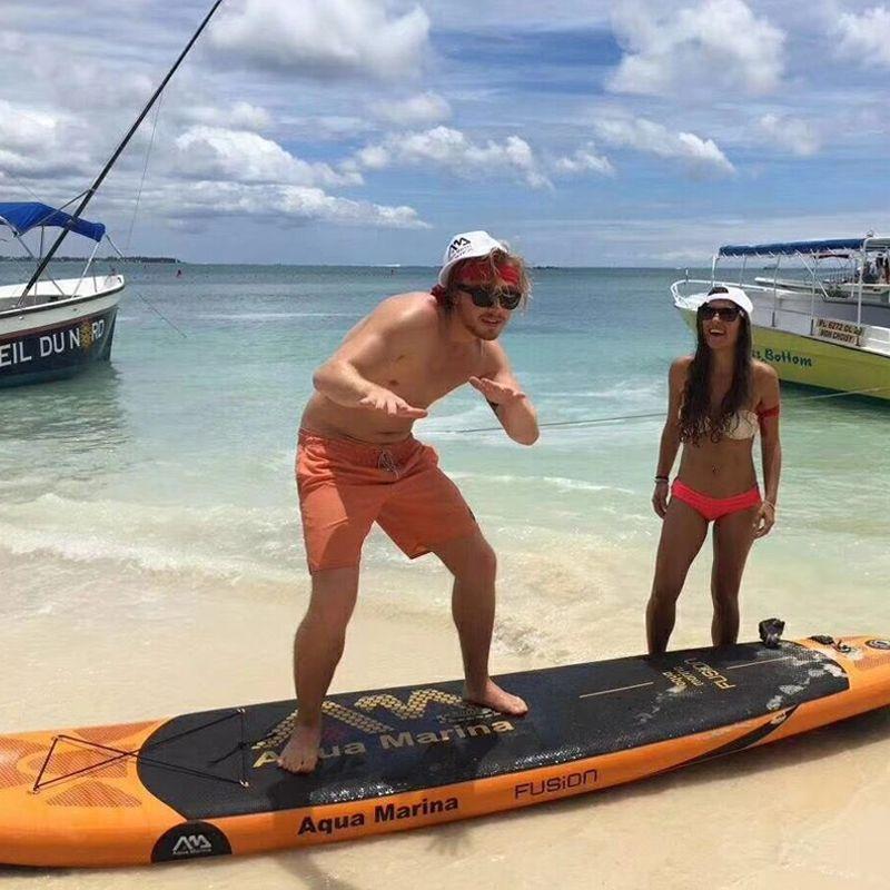 330*75*15 cm aufblasbare surfbrett FUSION stand up paddle surfing board AQUA MARINA wassersport sup bord ISUP B01004