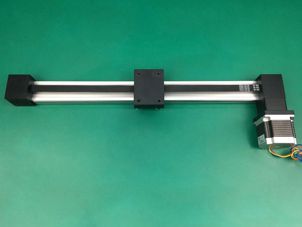 Synchronous belt linear slide XP 1000mm stroke table guide rail slide timing belt linear slide table+nema 23 stepping motor