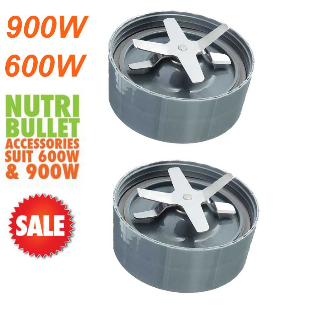 2pcs Extractor Cross Blade Replacement Parts for Nutribullet Nutri Bullet 900W and 600W- NEW IMPROVED DESIGN
