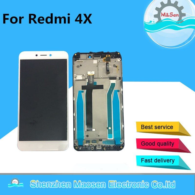 Original M&Sen For 5.0 Xiaomi Redmi 4X LCD screen display+touch panel digitizer with frame for redmi 4x lcd 10 touch Assembly
