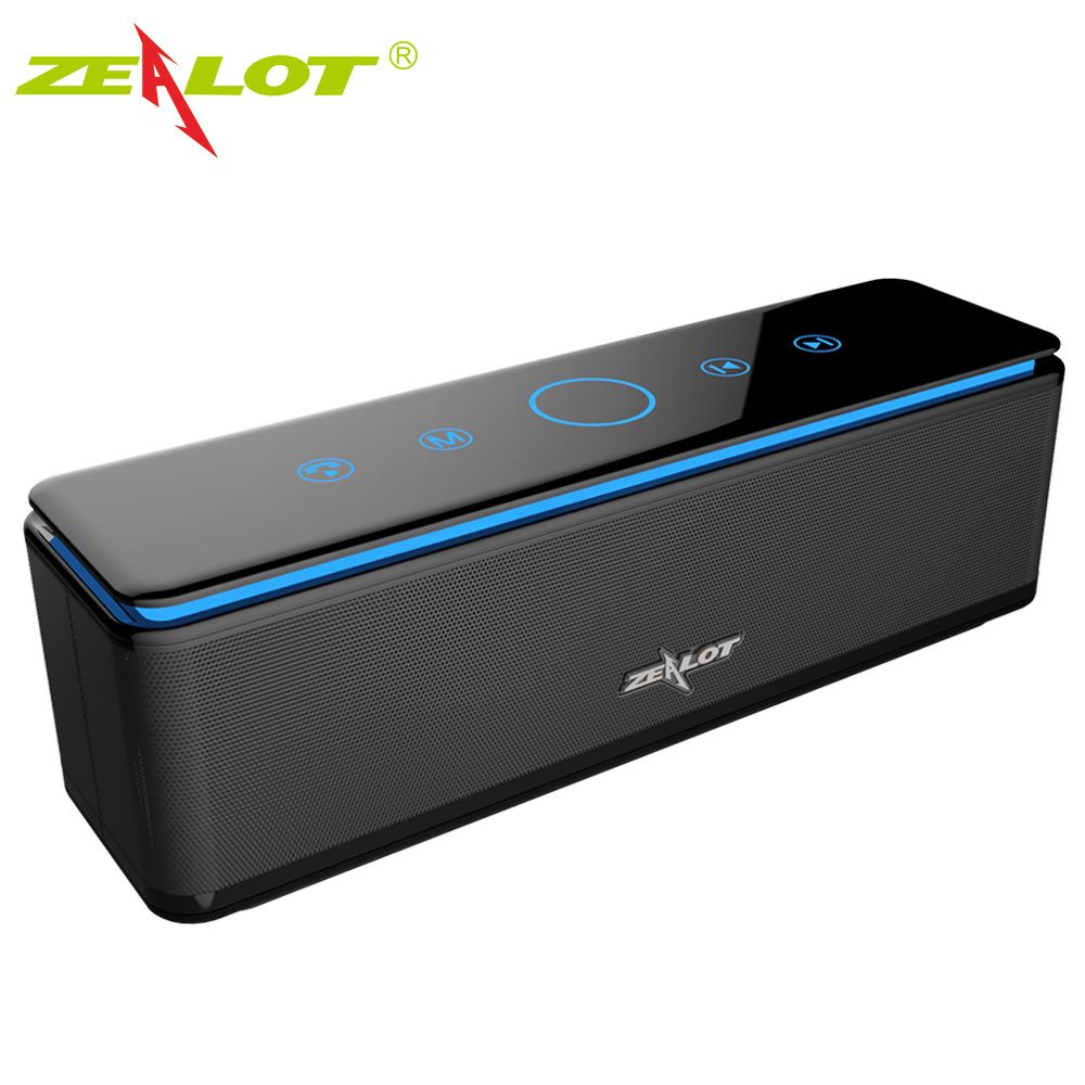ZEALOT S7 Bluetooth Speaker Touch Control Speakers Wireless 4 Drivers Audio Home Theatre 3D Stereo Sound System for Phones,PC
