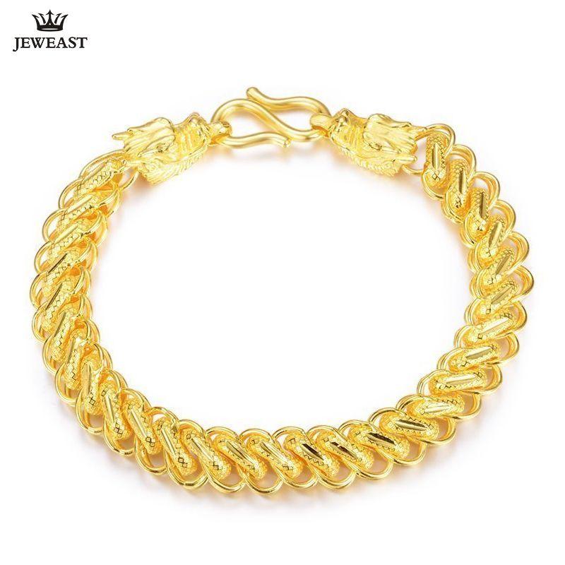 24 karat Reinem Gold Armband Echt 999 Solid Gold Armreif Großzügig Reiche männer Wasserhahn Ouch Trendy Klassischen Feinen Schmuck heißer Verkauf Neue 2018