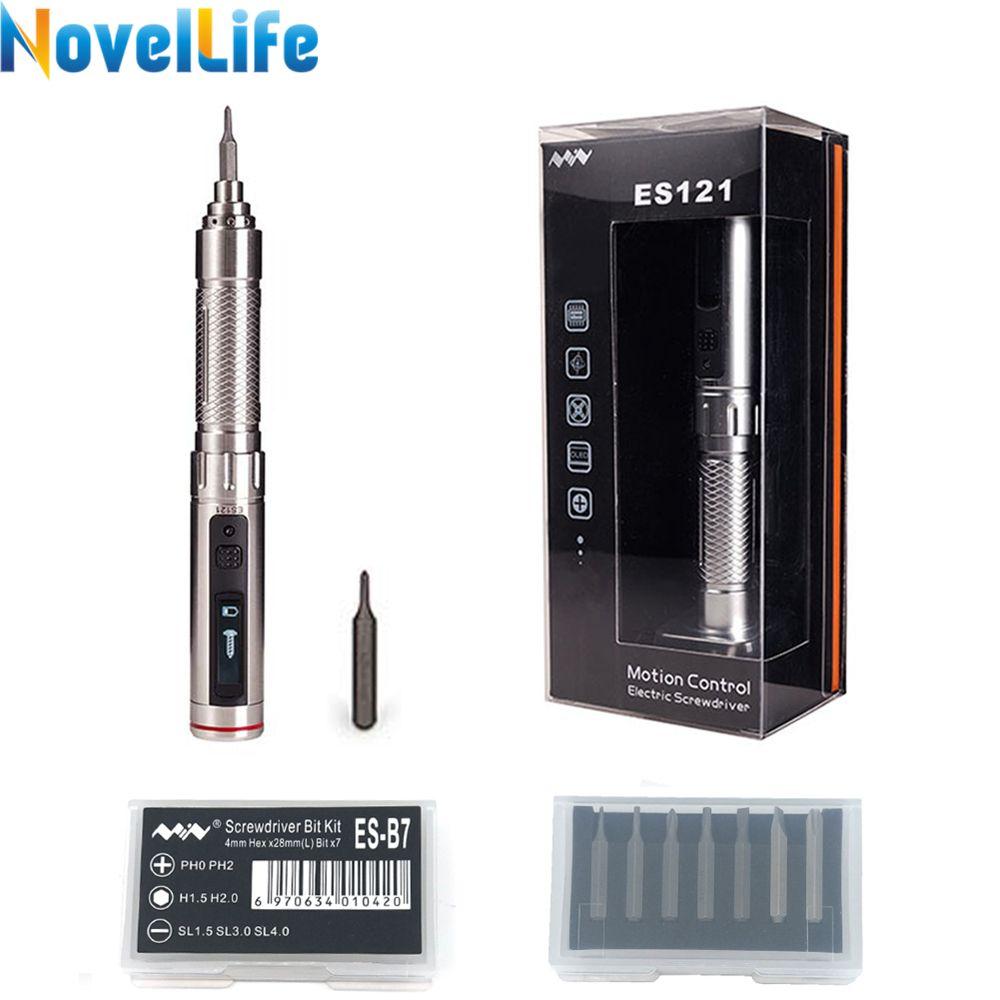 ES121 Mini Precision Cordless Electric Screwdriver Smart Motion Control Power Screwriver with 16pcs 4mm Bit Set ES120 Upgrade